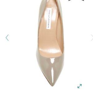 ⭐️ DVF Bethany Saffiano Patent Leather Heels